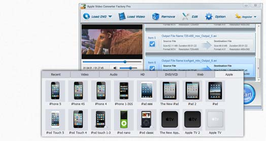 Apple Video Converter Factory Pro - click for full size