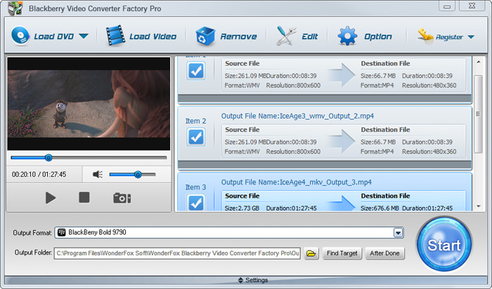BlackBerry Video Convertor