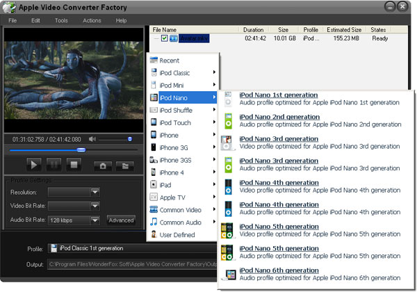 Free Apple Video Converter Factory