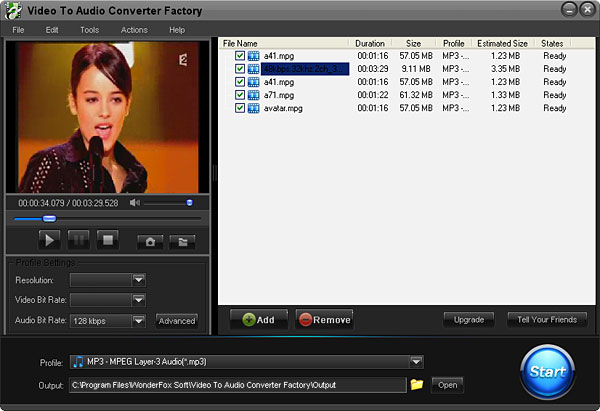 An useful Free Video to Audio Converter.
