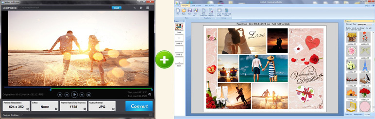 Video to Picture + Greeting Card Builder