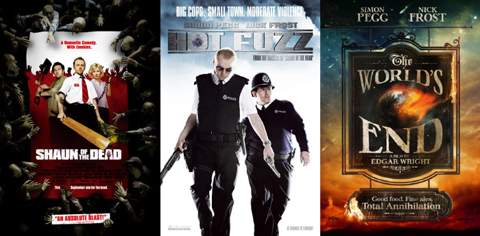 Blood and ice cream trilogy: shaun of the dead, hot fuzz, the world's end