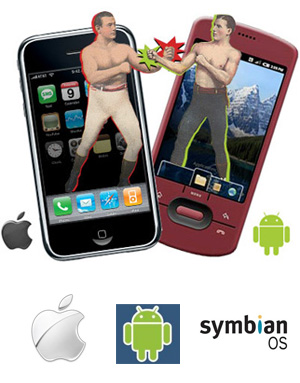 Android vs iPhone vs Symbian