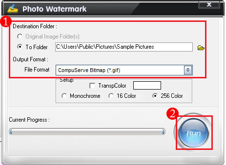 Start to Add Watermark on Animated GIF File