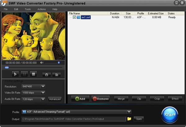 Windows 7 SWF Video Conerter Factory Pro 2.0 full