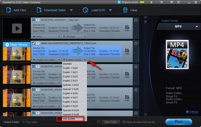 How to add subtitles to dvd movie or rip dvd with subtitles select dvd built in subtitles ccuart Gallery