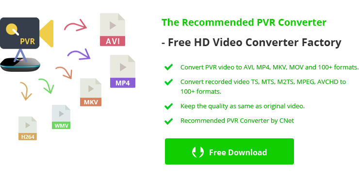 Solved] Best Free PVR Converter to Convert PVR to MP4, AVI for Easy