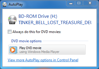 how to use windows media player to play dvd