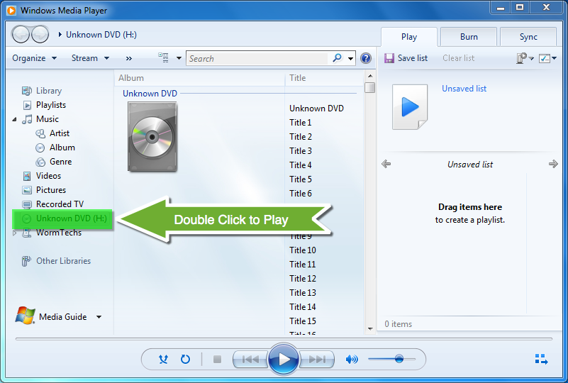 how do i play a dvd with windows media player
