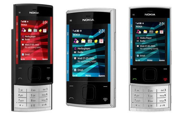 nokia x3 applications and softwares