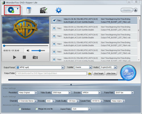 DVD to MP4 Freeware, Rip and Convert DVD to MP4 Freely