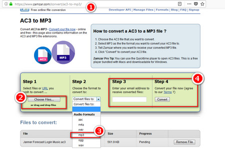convert amr format to mp3 online