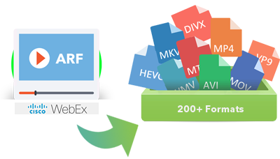 convert arf to mp4 online free