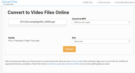 convert video to ppt online free