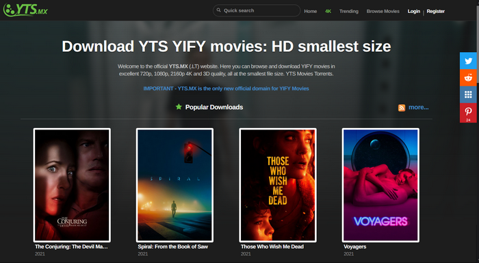Yts movie site