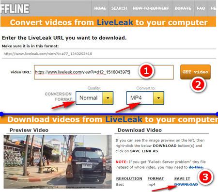 Скачать видео с liveleak