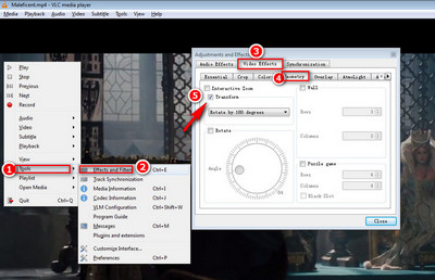 How to rotate video 4 methods to rotate your videos free rotate with media player ccuart Choice Image
