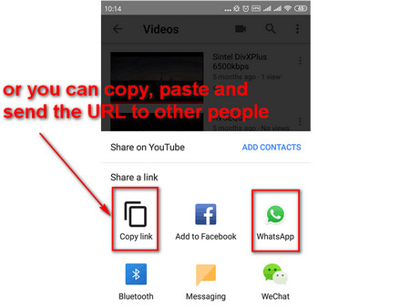 How to copy facebook video link to whatsapp