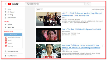 bollywood movie watching websites