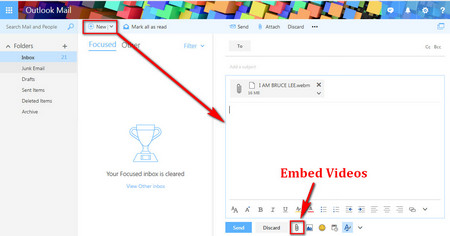 how to make a video to email