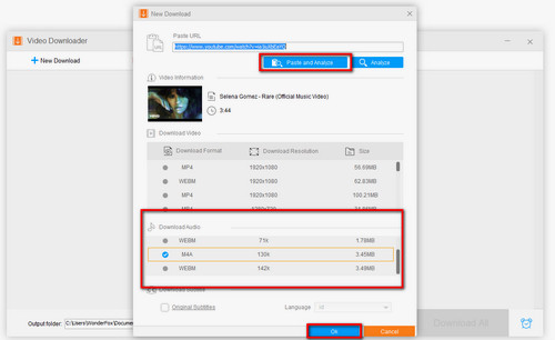 How to Easily Convert YouTube to M4A with 2 Handy methods