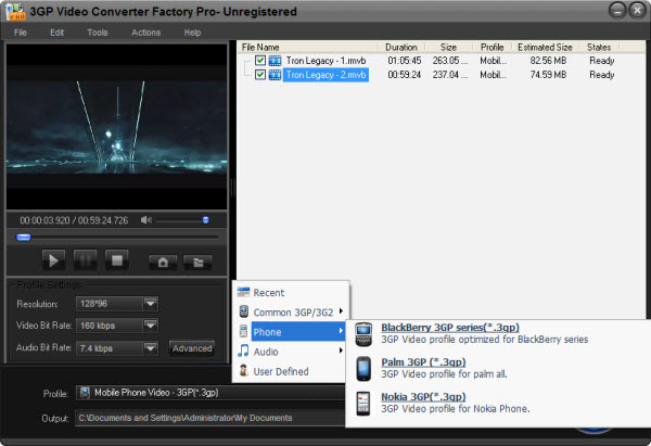 convertitore flv 3gp