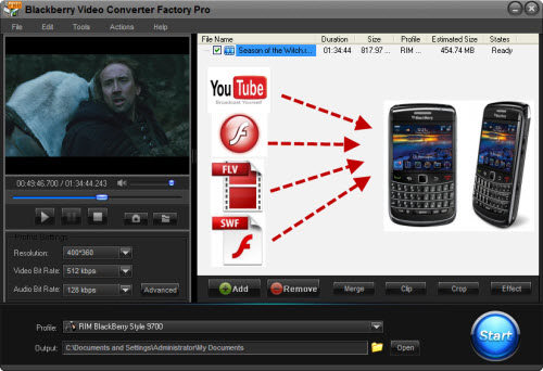 How to Convert Flash Video to BlackBerry 9700
