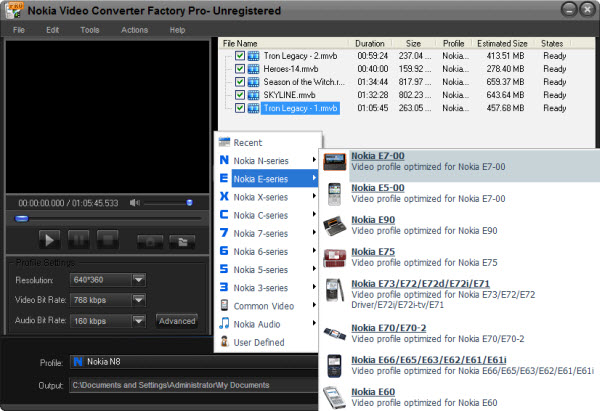 Download nokia video converter factory for free (Windows)