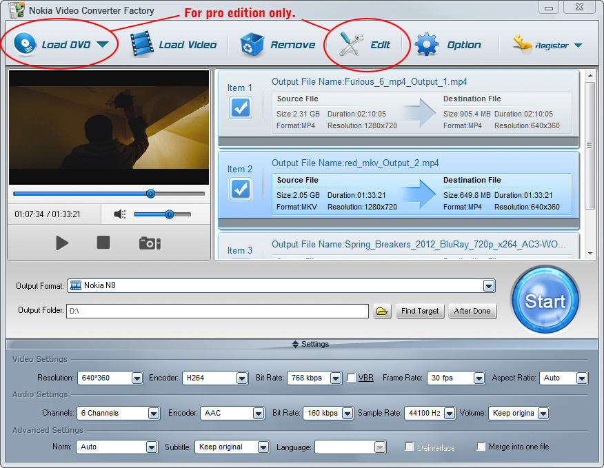 Free Nokia Video Converter Factory 6.1 full
