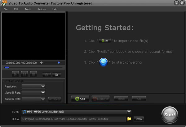 Video to Audio Converter Factory Pro 2.0 full