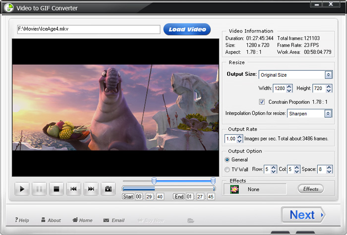 Windows 7 WonderFox Video to GIF Converter 1.2 full